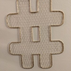 Wall accent peices, set of two gold @ and #